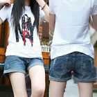 Sale Hot Vintage Women Middle Waisted Crimping Shorts Denim Jeans Pants Hotpants