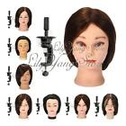 Pro Salon Human Hair Hairdressing Practice Training Mannequin Head Clamp + Comb