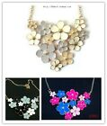 New Fashion Lady Flower Bib Necklace Jewelry A2060