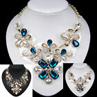 vintage antique jewellery gold gp glass crystal rhinestone resin bib necklace
