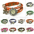 Fashion Women's Faux Leather Vintage Watches Bracelet Wristwatches Butterfly