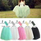 5Color New Princess Fairy Style 5 layers Tulle Boho Dress Bouffant Puff Skirt -W