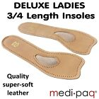 DELUXE LADY's Leather 3/4 Length Insoles - Metatarsal Pad Spreadfoot Foot Feet