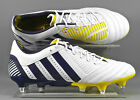 Adidas G64759 Predator Incurza XTRX SG adults RUGBY boots - White/Blue/Yellow