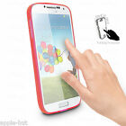 Red Touchable Stylish Front Clear Bumper Case Cover For Samsung Galaxy S4 i9500