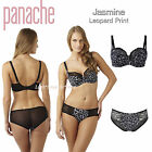PANACHE Jasmine Animal Leopard U/w Soft Cup Bra 32 34 36 38 D to K Brief 8 - 20