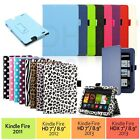 """PU Leather Folio Case Cover Stand For Amazon Kindle Fire HD 7"""" NEW HDX 7"""" & 8.9"""""""