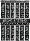 BLACK/SILVER GLITZ - PRISMATIC 12 FOOT BANNER (Birthday Party Decorations)
