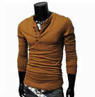 New Men's Casual Slim Fitted Stylish Dress T-shirts Tee Shirts Cotton blend