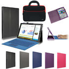 "Leather Folio Stand Cover Case+Tablet Sleeve Bag For 12"" Microsoft Surface Pro 3"