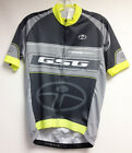 Rapid Dry CYCLING SHORT SLEEVE JERSEY (Gray/Yellow) Made in Italy by GSG
