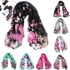 Fashion Women Lady Butterfly Print Neck Shawl Scarf Scarves Wrap Stole