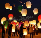 1/5pcs Sky Flying Paper Lanterns KongMing Lucky Light Wedding Assorted Colors Y