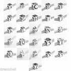 925 Sterling Silver Dice Cube A-Z Initial Letter Alphabet European Bead Charm
