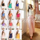 16 Color Women's Casual Loose Sleeveless Chiffon Vest Tank T Shirt Blouse Tops