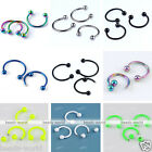 10x Stainless Steel 18G Bar Hoop Horseshoe Punk Nose Septum Captive Ring Fashion
