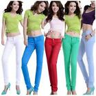 Candy Color Women Stretch Pencil Pants Casual Slim Skinny Leggings Tight Trouser