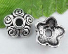 Wholesale 65/150Pcs Tibetan Silver  Bead Caps  Findings  10x4mm(Lead-free)