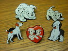 Assorted dog pin badges. Dalmatian, Jack Russell, Sheepdog, Bassett. Alsatian
