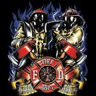FIRE FIGHTER RESCUE SERVE LONG SLEEVE T SHIRT CHEST LOGO