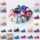 5PCS Polymer Clay Clear Crystal European Bead Charm Findings Fit Bracelet PE20-4