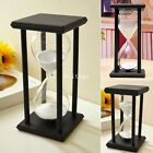 Wood Sand Holder 30 45 60 Minute Hourglass Glass vase Timer Decor Sandglass