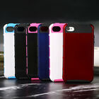 Hybrid Rugged Rubber Matte Hard Case Cover For iPhone 4 4S w/ Screen protector