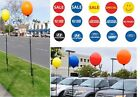 Reusable Balloon & 5'+ Pole Kit No Helium Needed Certified Pre Owned  U Pick