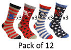 Universal SK8 Dude Novelty Boys Socks Calf High Childrens 12 Pack Socks