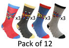 Universal Comic Book Hero Novelty Boys Socks Calf High Childrens 12 Pack Socks