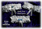Gentle IVORY lace BRIDAL GARTER  can be  PERSONALISED with names date  ANY SIZE