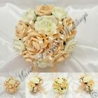 WEDDING FLOWERS BRIDESMAID BOUQUET POSY SILK FOAM ROSES CHAMPAGNE +OTHER COLOURS