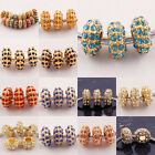 Wholesale Four Row Crystal Gold Plated European Beads Fit Charms Bracelet