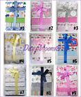 CUDLIE RECEIVING BLANKETS SET 4 COTTON PACK BABY BOYS GIRLS UNISEX DOTS NEW