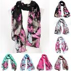 Fashion Women Lady Soft Butterfly Print Neck Shawl Scarf Scarves Wrap Stole