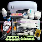 Pro. Nail Art UV Gel Lamp Painting Brush Sanding File Topcoat Kits Manicure Sets