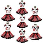 MINNIE Theme Birthday Number Outfit Girl Clothing White Shirt Pettiskirt 1-8Y