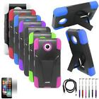For AT&T Nokia Lumia 635 Case Dual Layered Hard Cover + USB Charger +LCD +Pen