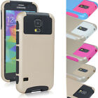 Heavy Duty Rubber Rugged Combo Matte Case Cover For Samusng Galaxy S5 i9600 G900