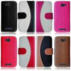 For Alcatel One Touch Fierce 2 7040T TwoTone Leather Card Holder Cover