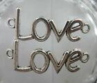 "wholesale Retro style  delicate alloy  ""love"" charm connector"