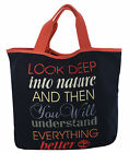 Timberland Canvas Shopper Unisex Womens Mens Bag Navy Blue Cotton (M2675 434) D1