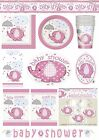 UMBRELLAPHANTS GIRL PINK Baby Shower PARTY ITEMS Tableware Balloons Decorations