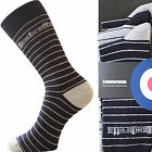 6 Pairs Mens Lambretta Designer Socks Stripe Plain Classic Cotton Rich UK 6-11