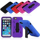 For Apple iPhone 6 4.7inches Phone Case Silicone Hard Cover Kickstand New E0Xc