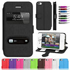 Book Flip Wallet Leather Case Cover Stand For iPhone 4 4S Screen Protector
