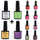 New Style Nail Art UV Gel Soak Off Polish Gelish Tips - Top,Base + 2 Colours Set