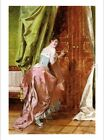 """JAN MONIUSZKO """"Who's There?"""" COURTING couple woman ballgown pink NEW CANVAS"""