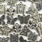 Mixed Tibetan Silver BUTTERFLY Pendants CHARMS Lots of 50/ 100/ 250/ 500/ 1000