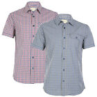 MENS 883 POLICE CHECKERED SHORT SLEEVED BUTTON UP COLLAR SHIRT TOP SIZE S-XXL